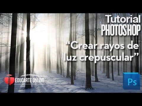 crear rayos de luz crepuscular en photoshop