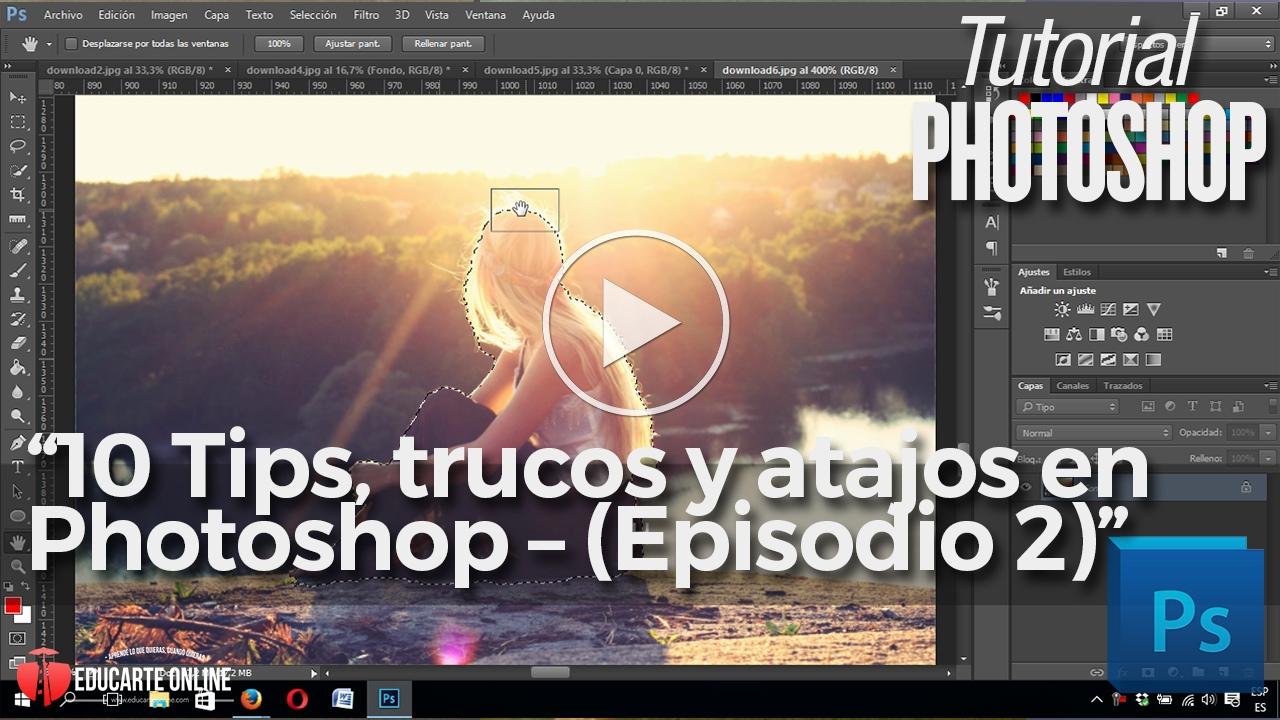 10 tips, trucos y atajos en Photoshop
