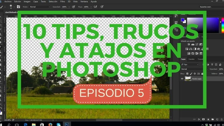 10 tips, trucos y atajos en photosop - episodio 5