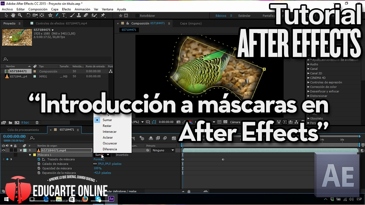 mascaras en after effects tutorial