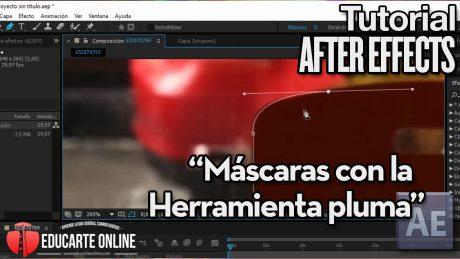 tutorial basico mascaras con pluma en after effects