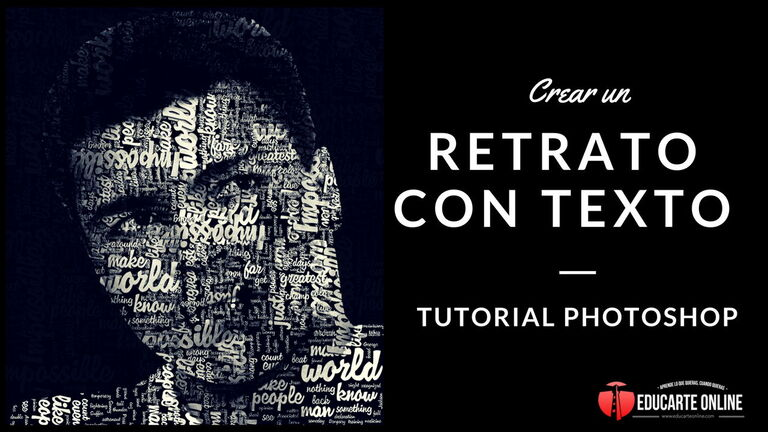 crear retrato con texto en photoshop