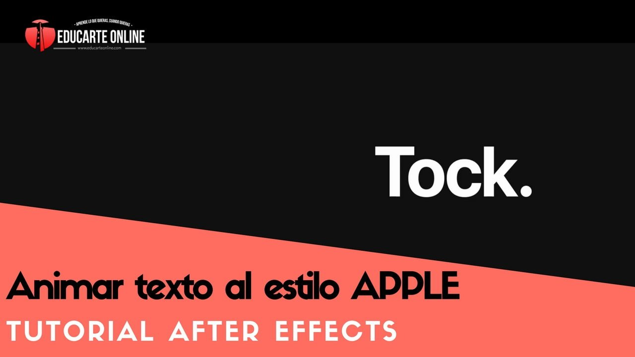 Animar texto al estilo APPLE - Tutorial After Effects