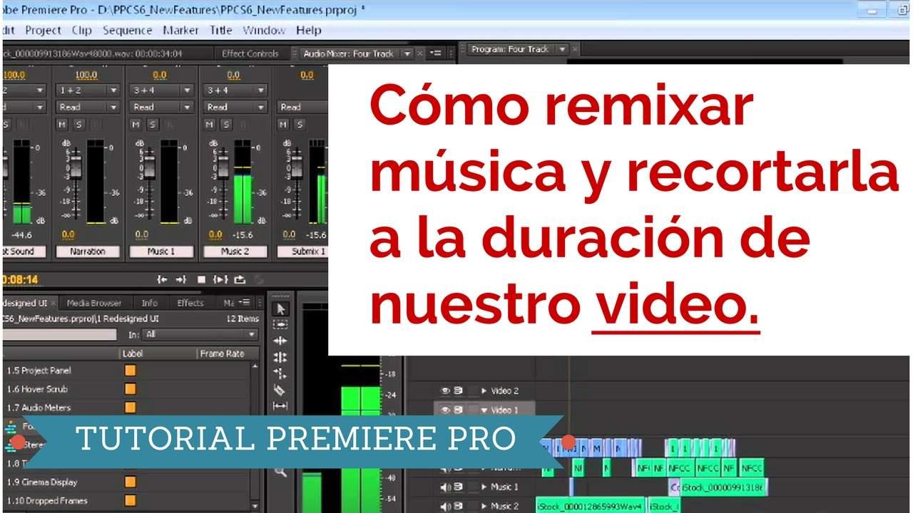 Como remixar música y recortarla para ajustar a nuestro video