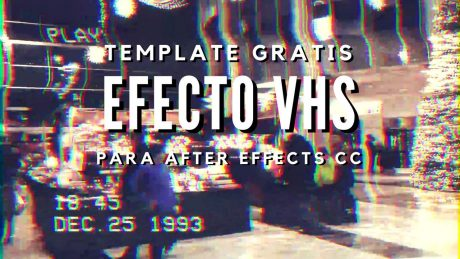 template gratis free efecto vhs after effects