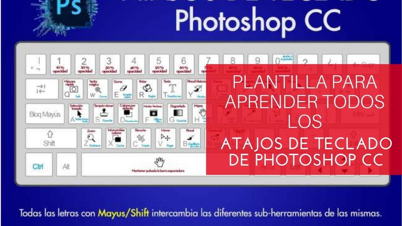 atajos de teclado en Photoshop CC