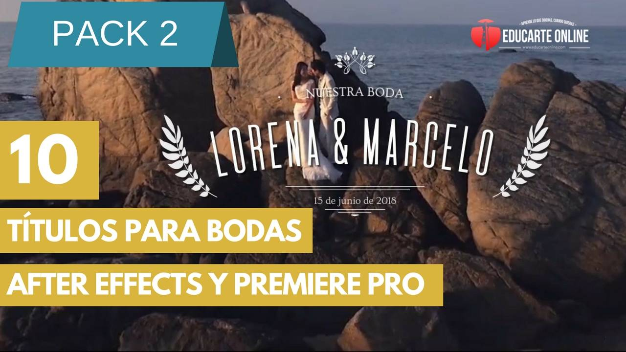 10 titulos para bodas after effects y premiere gratis pack 2
