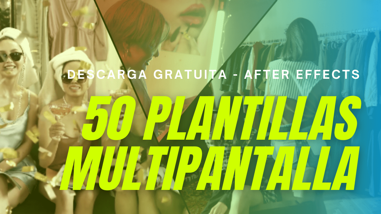 50 pantallas multi screen after effects